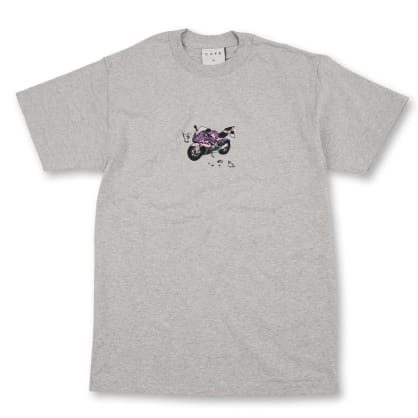 Skateboard Cafe Motorcycle T-Shirt - Ash