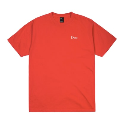 Dime Classic Embroidered T-Shirt - Tomato