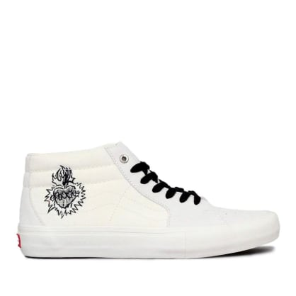 Vans x Slam City Sk8-Mid Pro Skate Shoes - Marshmallow