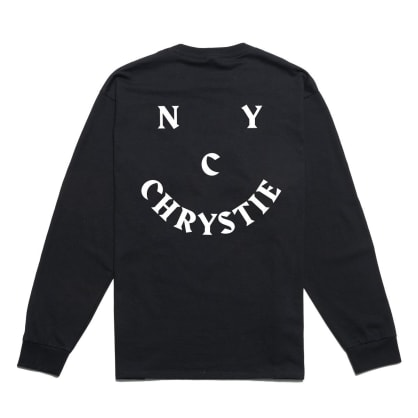 Chrystie NYC Smile Logo Long Sleeve T-Shirt - Black