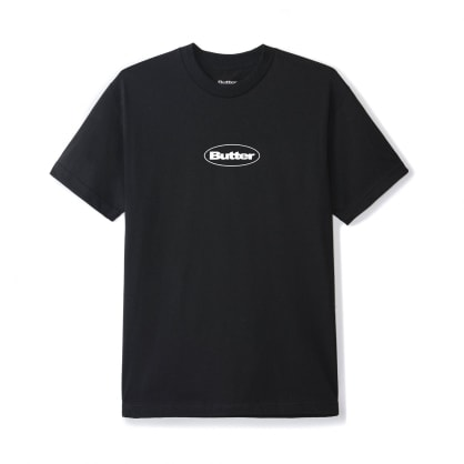 Butter Goods Puff Badge Logo T-Shirt - Black