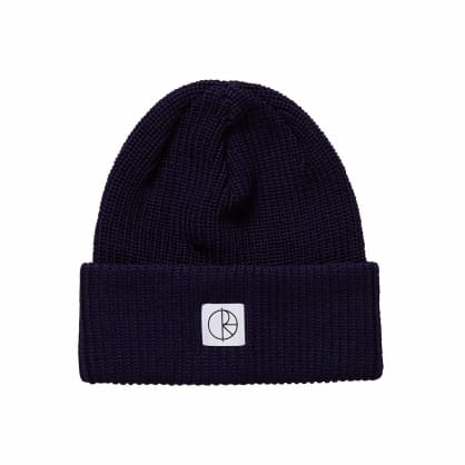 Polar Skate Co Double Fold Merino Beanie - Rich Navy