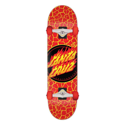 Santa Cruz Complete Flame Dot Large Red 8.25 IN