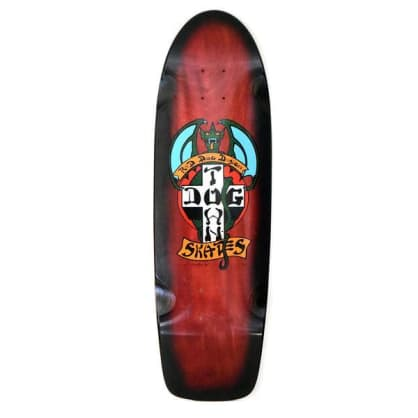 Dogtown OG Red Dog Rider Skateboard Deck Red Stain / Black Fade - 9.00 x 30.25