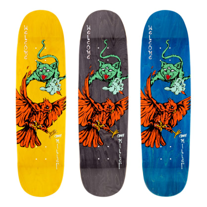 Welcome Skateboards Chris Miller Prequel on Catblood 2.0 Skateboard Deck Various Stains - 8.75""