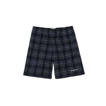 Yardsale Flannel Shorts - Navy / White