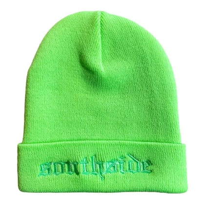 Southside Old English Beanie Neon Green