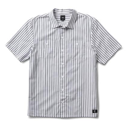 Vans Rowan Zorilla Workwear Striped Shirt - White / Dress Blue