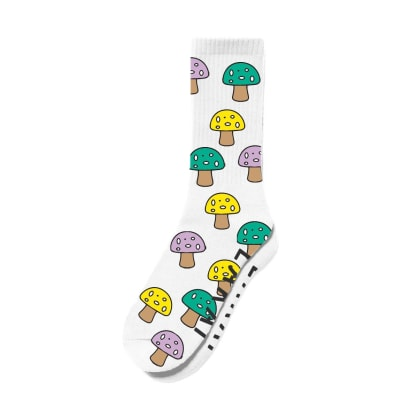 Lakai Shroom Crew Socks - White