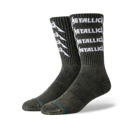 Stance Metallica Stack Socks - Washed Black