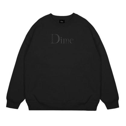 Dime Classic Logo Sweatshirt Black