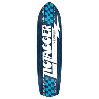 "Krooked Zip Zagger RGB Skateboard Deck - 8.62"""