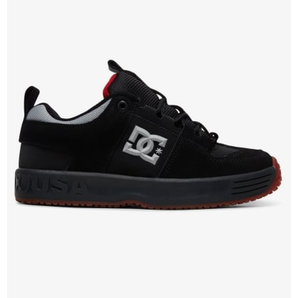 DC Shoes Lynx OG Darkroom Skateboarding Shoes - Black / Dark Grey / Athletic Red
