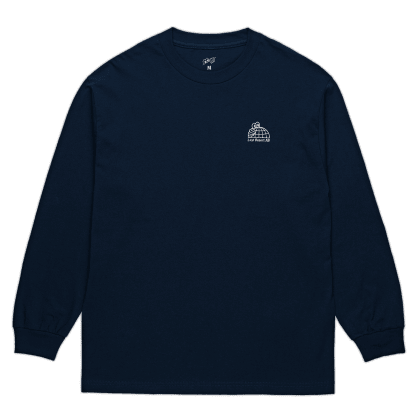 Last Resort AB Half Globe Long Sleeve T-Shirt - Navy