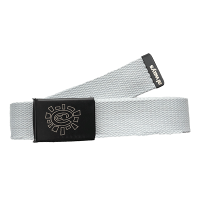always do what you should do - silver canvas belt