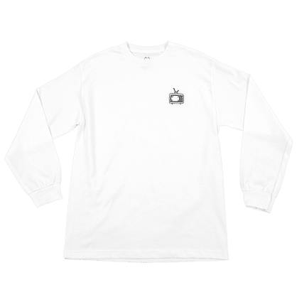 "WKND- ""TV LONG SLEEVE T- SHIRT"" (WHITE)"
