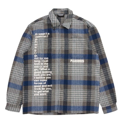 Pleasures Forces Plaid Overshirt (Grey)