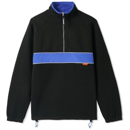 Butter Goods Axis 1/4 Zip Pullover Crew - Black / Royal