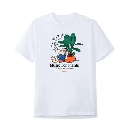Butter Goods - Butter Goods Music For Plants T-Shirt | White