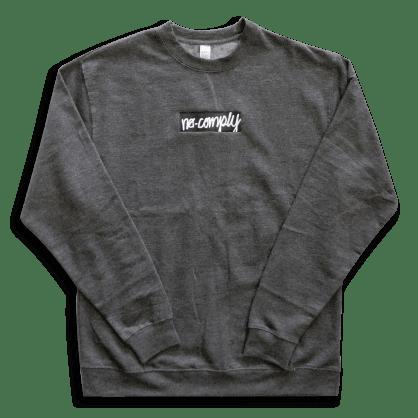 No-Comply Script Box Crew Sweater