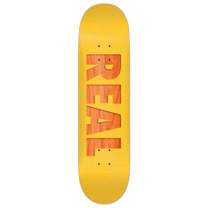 "Real Skateboards - Bold Series Deck 8.06"" Wide"