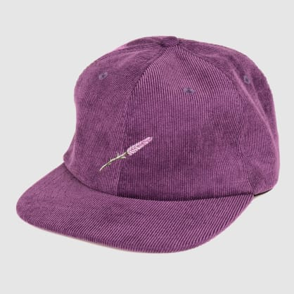 "PASS~PORT ""LAVENDER"" 6 PANEL CAP DARK PURPLE"