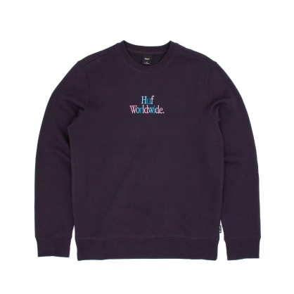 Huf Woz Crew Sweatshirt - French Navy