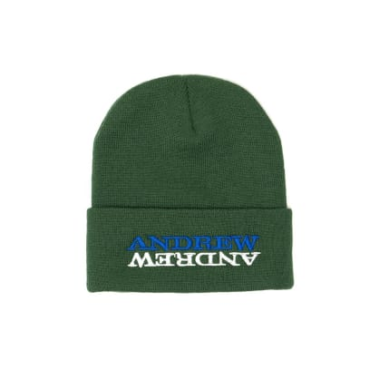 Andrew - Mirror Beanie - Forest Green