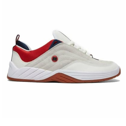 DC Williams Slim S White/Navy/Red Shoes
