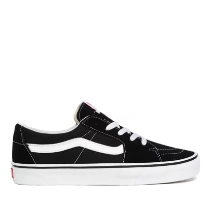 Vans Sk8-Low Skate Shoes - Black / True White