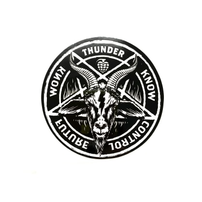 """Thunder Trucks 3"""" Goat Pentagram Sticker"""