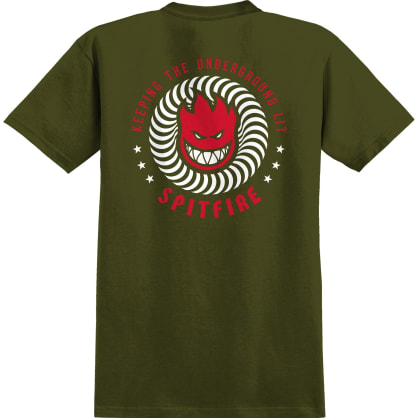 SPITFIRE KTUL Tee Military Green/White/Red