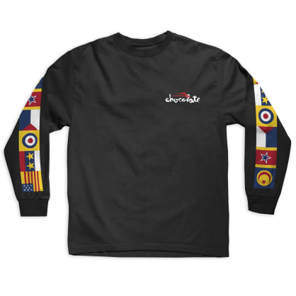 Lakai x Chocolate Flags L/S Tee Black