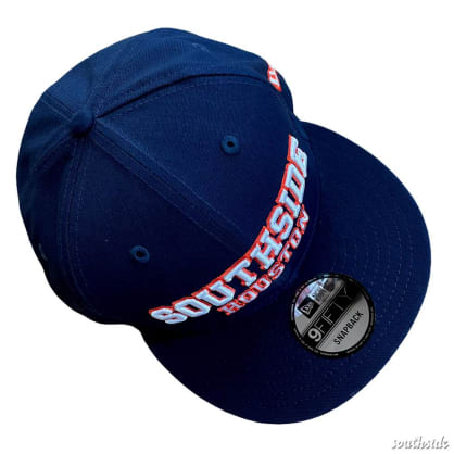 Southside x New Era Hat 950 Navy Orange White Snapback