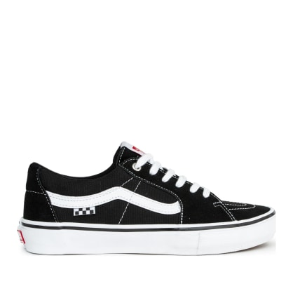 Vans Sk8-Low Pro Skate Shoes - Black / White