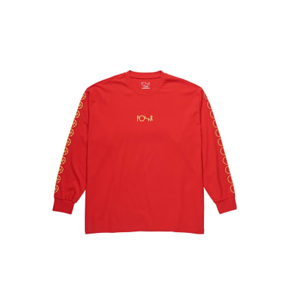 Polar Skate Co Racing Long Sleeve T-Shirt - Red