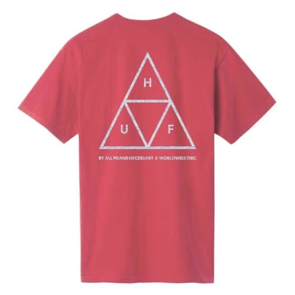 HUF Hologram T-Shirt - Rose Wood Red