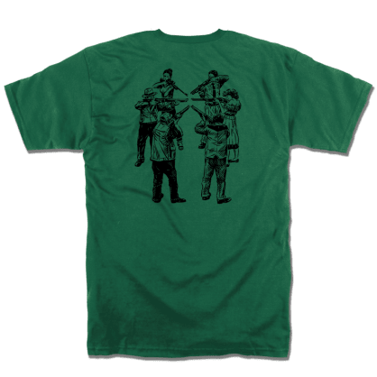 Slave Only Human Circle of Death T-Shirt (Forest Green)