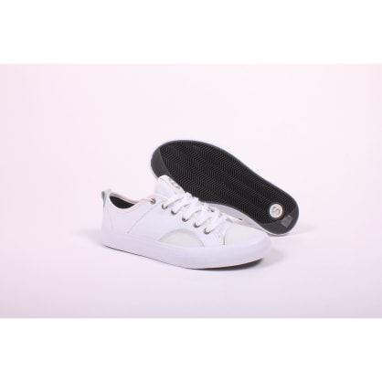 State Harlem White/White Canvas Suede