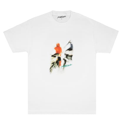 Yardsale Biker T-Shirt - White