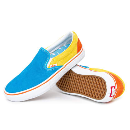 Vans x The Simpsons Slip On Pro Shoes - Blue/Yellow