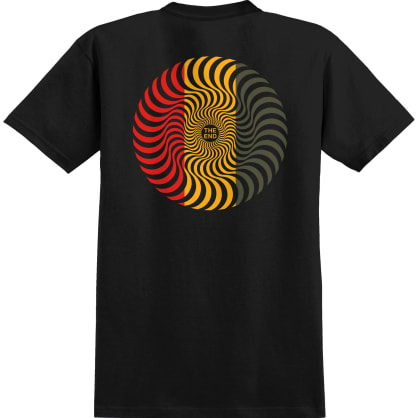 Spitfire Classic Swirl T-Shirt - Black/Red/Gold