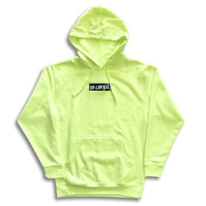 No-Comply Script Box Pull Over Hoodie