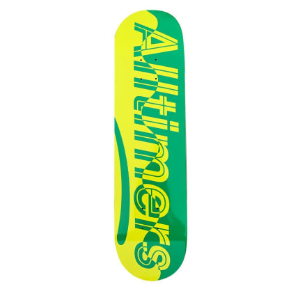 Alltimers Waves Estate Green Skateboard Deck - 8.1""