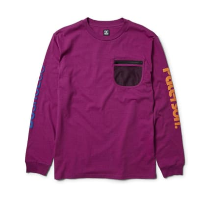 DC Shoes x Paterson Field Tech Longsleeve - Purple