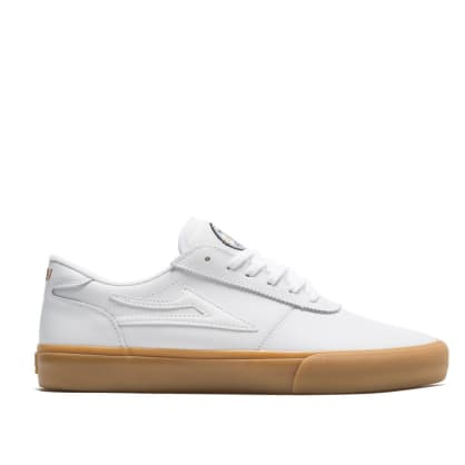 Lakai Manchester Griffin Gass Leather Skate Shoes - White