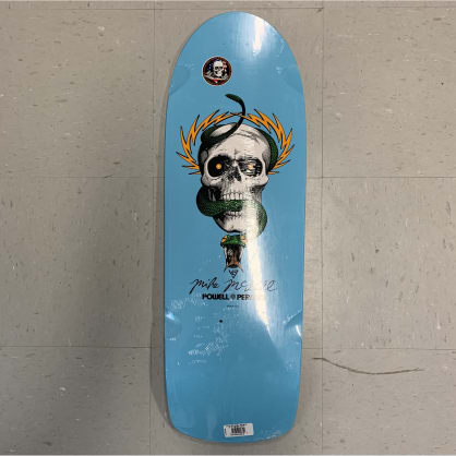 Powell Peralta Skateboards McGill Skull & Snake Light Blue Re-Issue Deck 10.0