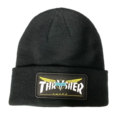 Thrasher Magazine Venture Trucks Black Patch Beanie
