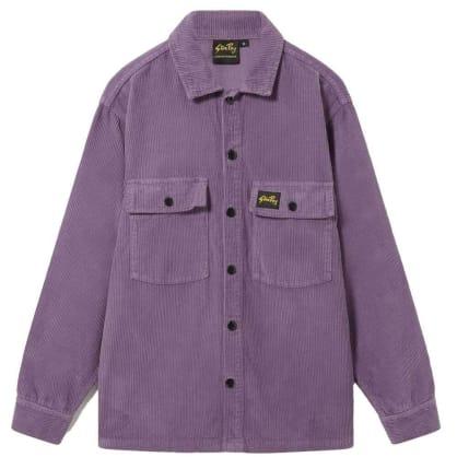 Stan Ray Cord CPO Shirt - Crushed Purple