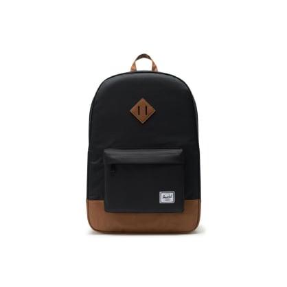 Herschel Heritage Backpack - Black/Tan Synthetic Leather